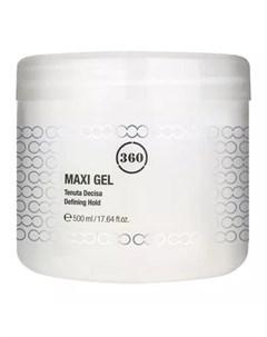 Гель для волос с сильной фиксацией Maxi Gel 500 мл Стайлинг 360