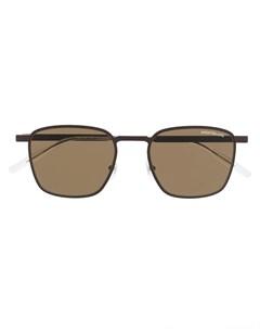 Солнцезащитные очки в квадратной оправе Montblanc