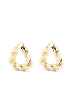 Фактурные серьги кольца Bottega veneta