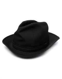 Скульптурная шляпа трилби Yohji yamamoto
