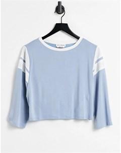 Голубая укороченная oversized футболка Native youth