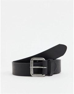 Черный кожаный ремень Allanton Barbour