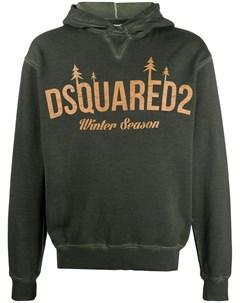 Худи с принтом Winter Season Dsquared2
