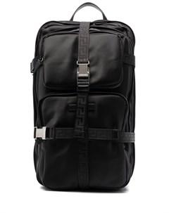 Рюкзак с пряжками и принтом Versace