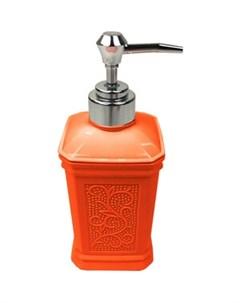 Дозатор London для жидкого мыла настольный оранжевый Fora