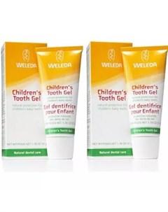 Комплект Детская зубная паста гель 2х50 мл Уход за полостью рта Weleda