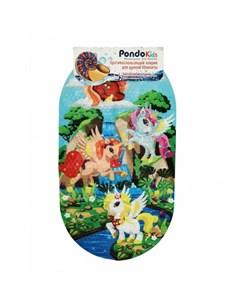 Коврик Kids для ванны Единорожки 69х39 см Pondo
