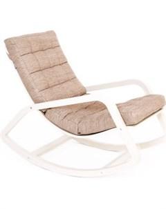 Кресло качалка Онтарио ткань миндаль каркас бежевый Мебелик