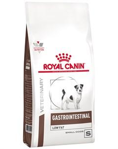 Gastrointestinal Low Fat Small Dog S для взрослых собак маленьких пород при заболеваниях жкт с пониж Royal canin
