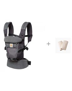 Рюкзак кенгуру Adapt Cool Air Mesh c накладками На Лямки Natural Ergobaby