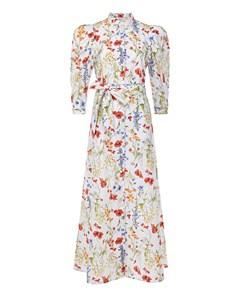 Белое платье с цветочным принтом Sara roka