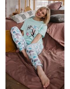 Пижама трикотажная Эника мятная Инсантрик