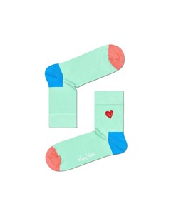 Носки Embroidery Heart Half Crew Sock Happy socks