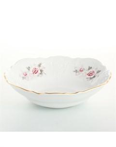 Набор салатников 19 см Серая роза золото 6 шт Bernadotte