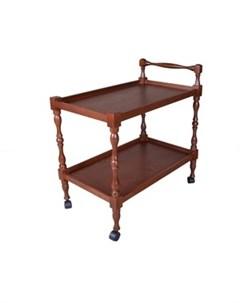 Стол сервировочный Бридж средне коричневый Мебелик