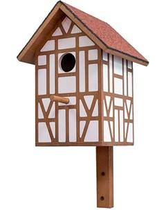 Скворечник Тироль с двускатной крышей малый 19 5 х 18 5 х 39 см 1 шт Дарэлл