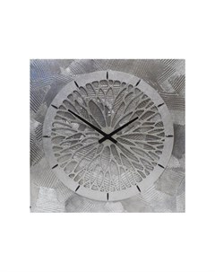 Настенные часы серебристый 60x60x4 см Mariarty