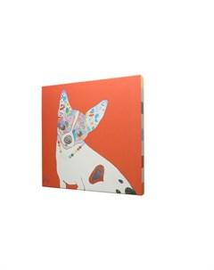 Постер собачка красный 43x43x3 см Кристина кретова