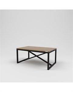 Стол журнальный лофт коричневый 100 0x45 0x65 0 см Kovka object