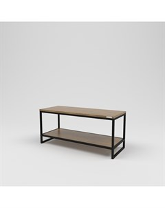 Стол журнальный лофт коричневый 100 0x45 0x40 0 см Kovka object