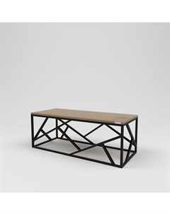 Стол журнальный лофт коричневый 120 0x45 0x50 0 см Kovka object