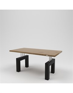 Стол обеденный лофт коричневый 160 0x75 0x80 0 см Kovka object