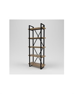 Стеллаж лофт коричневый 80 0x200 0x34 0 см Kovka object