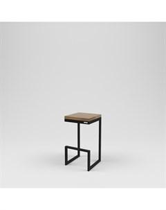 Стул барный лофт черный 40 0x75 0x40 0 см Kovka object