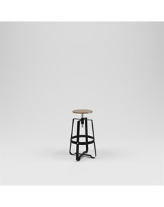 Стул барный лофт черный 45 0x75 0x45 0 см Kovka object