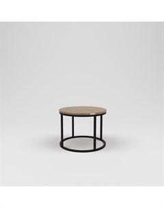 Стол журнальный лофт коричневый 60 0x45 0x60 0 см Kovka object