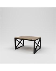 Стол журнальный лофт коричневый 80 0x45 0x60 0 см Kovka object