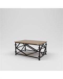 Стол журнальный лофт коричневый 90 0x45 0x60 0 см Kovka object