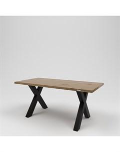 Стол обеденный лофт коричневый 170 0x75 0x80 0 см Kovka object