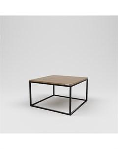 Стол журнальный лофт коричневый 75 0x45 0x75 0 см Kovka object