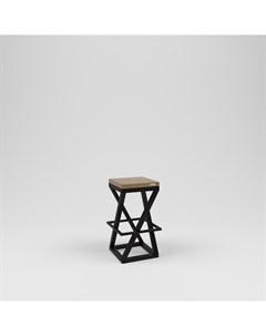 Стул барный лофт черный 38 0x75 0x38 0 см Kovka object