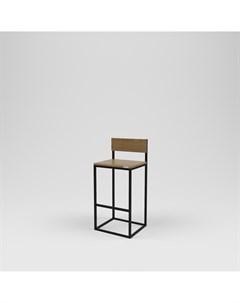 Стул барный лофт черный 40 0x100 0x45 0 см Kovka object