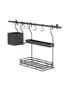 Полка для кухни leanis черный 80x40x17 см Laredoute