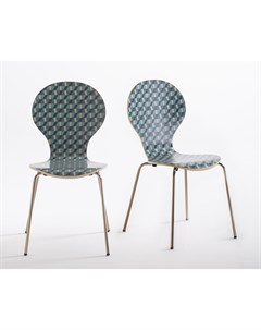 Комплект стульев watford мультиколор 52x86x43 см Laredoute
