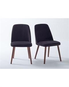 Комплект стульев watford черный 48x82x55 см Laredoute