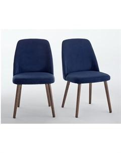 Комплект стульев watford синий 48x82x55 см Laredoute