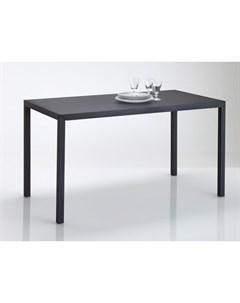 Обеденный стол hiba черный 135x74x70 см Laredoute
