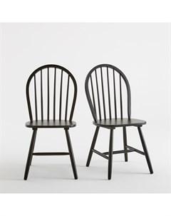 Комплект стульев windsor 2 шт черный 46x92x51 см Laredoute