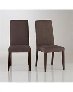 Комплект обеденных стульев hartford 2 шт коричневый 44x96x50 см Laredoute