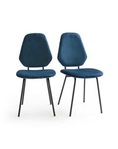 Комплект стульев diamond 2 шт синий 45x90x58 см Laredoute