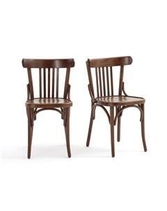 Комплект стульев bistro коричневый 47x79x46 см Laredoute