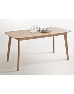 Обеденный стол jimi бежевый 160x75x80 см Laredoute