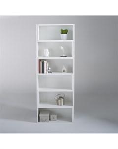 Книжный шкаф everett белый 139x200x30 см Laredoute