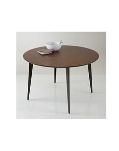 Стол обеденный круглый watford коричневый 75 см Laredoute