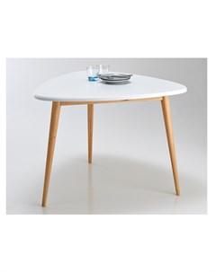 Стол обеденный jimi белый 103x75x100 см Laredoute