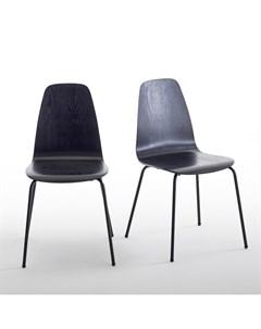 Комплект стульев biface 2 шт черный 40x83x42 см Laredoute